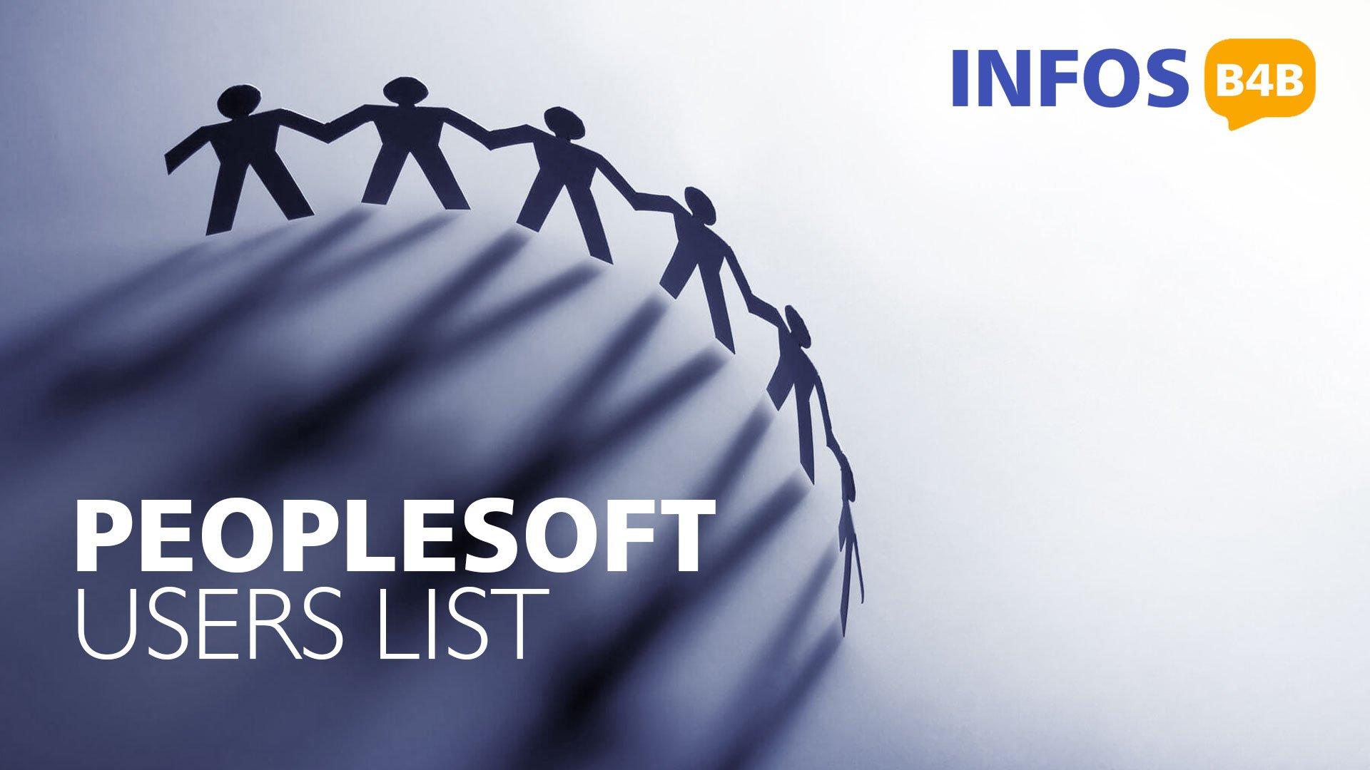 Peoplesoft Users List